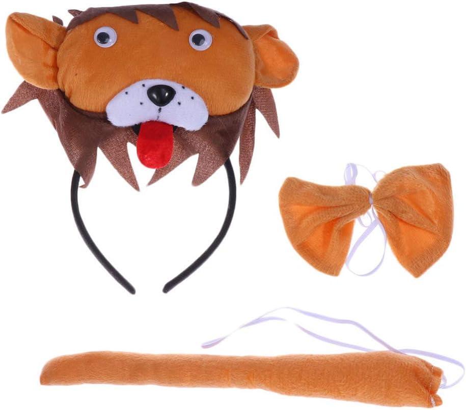 Lion Sale price Costume Accessory Set trust Hairba Halloween Headband Animal