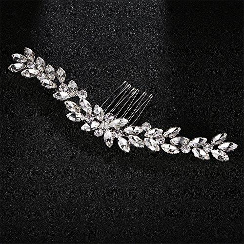 MultiKing Bride Headdress Europa en de Verenigde Staten klassieke haarspeld haarspeld lassen speciaalvormige diamant haar kam bruiloft modelleren bruidsjurk