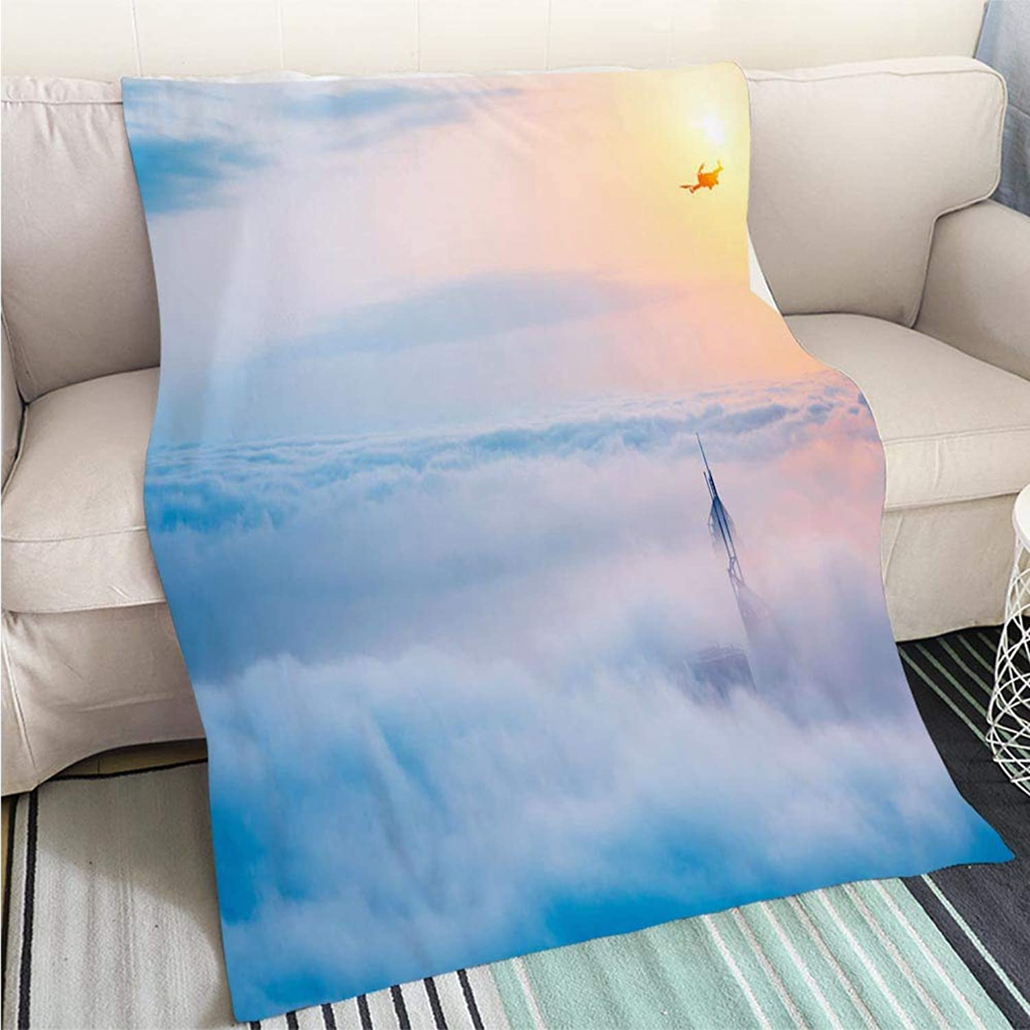 Comforter Multicolor Bed or Couch Drone Over Clouds Perfect for Couch Sofa or Bed Cool Quilt