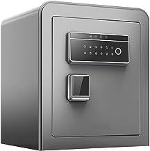 JBAMQ Fireproof Safe and Waterproof Safe with Digital Keypad Feet,Wall Safes Safe Home Small Anti-Theft Fingerprint Passwo...