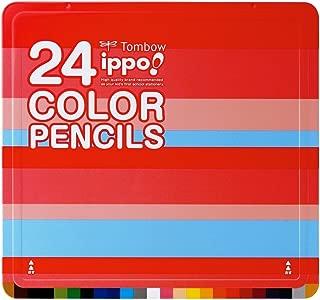 トンボ鉛筆 色鉛筆 ippo! スライド缶 24色 CL-RPW0224C プレーンW