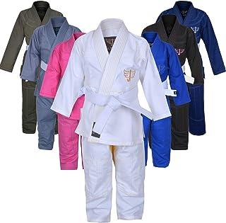 Jayefo Kids Brazilian JIU Jitsu GI for Boys and Girls IBJJF Legal BJJ Lightweight Soft Preshrunk Grappling Children Youth ...
