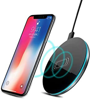 Kaisio Qi Wireless Charger for iPhone 8 X XR XS Max QC3.0 10W Fast Wireless Charging for Samsung S9 S8 Note 8 9 S7 USB Charger Pad (10W)