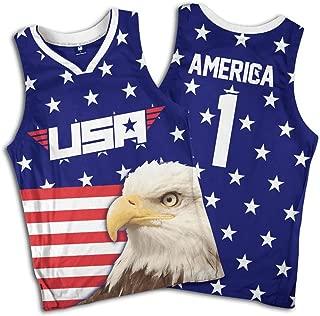 Greater Half Eagle America #1 Basketball Jersey (S-XXXXL)