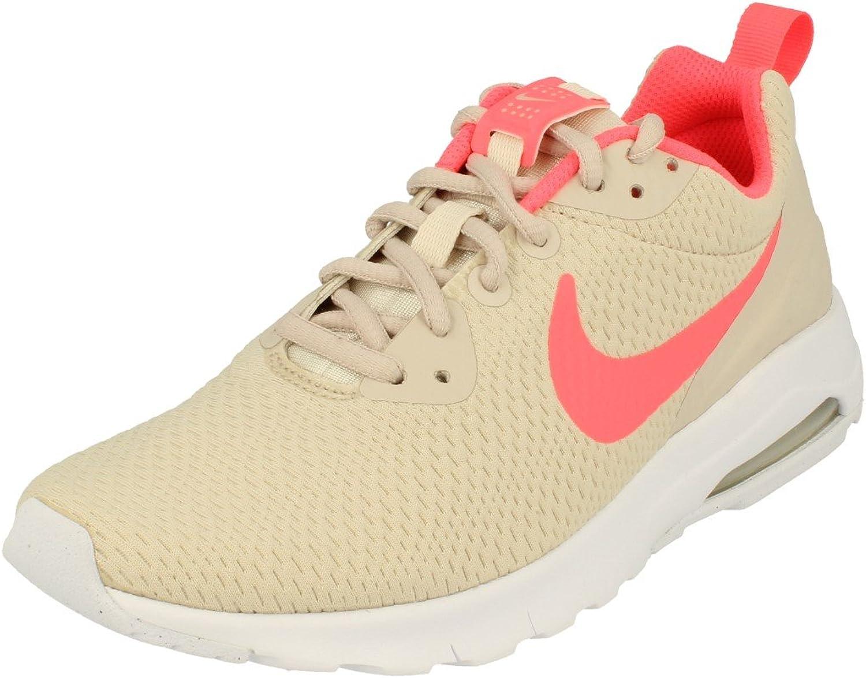 Nike WMNS AIR MAX Motion LW–Turnschuhe, Damen, Gelb–(LT Orewood BRN Hot Punch-Weiß)