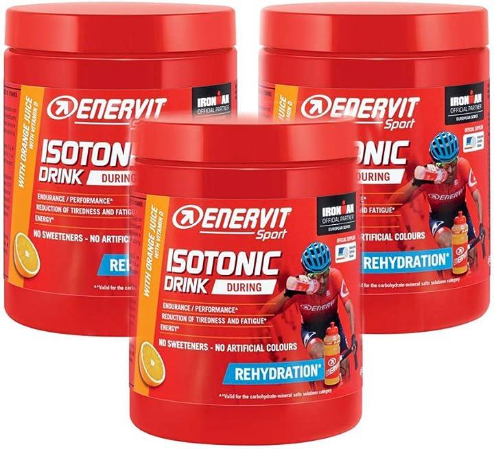 Isotonic drink 420 g. gusto arancio, reidratazione, maratona dles dolomites enel 2018 - 3 enervit B079R71LJ4