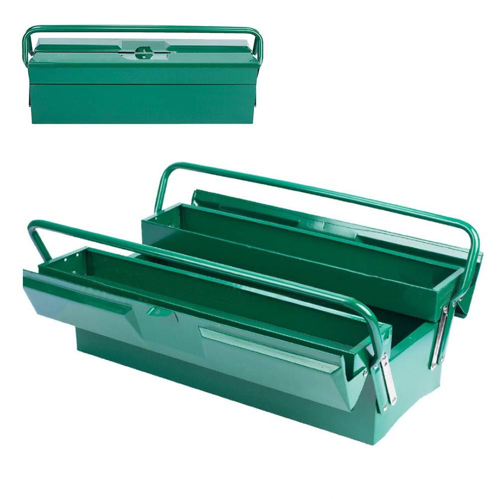 Caja Herramientas Metalica,Caja Metalica Cantilever Metálicas,Caja De Almacenamiento Plegable Multipropósito,2 Bandejas,17 Pulgadas / 50 × 20 Cm,B: Amazon.es: Bricolaje y herramientas