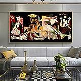WSHIYI Berühmte Picasso Guernica Wandkunst Leinwand