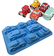 zmgmsmh 1 Pack Silicone Carton Car Mold Baking Molds Bakeware for Birthday Theme Party, Muffin Cups, Ice Cube, Soap, Wafer...