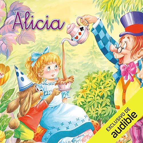 Diseño de la portada del título Alicia en el país de las maravillas (Narración en Castellano)