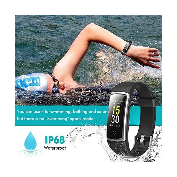 Lintelek Pulsera Actividad, Reloj Inteligente con Medidor de Ritmo Cardíaco Presión Arterial, Reloj Deportivo Compatible… 6