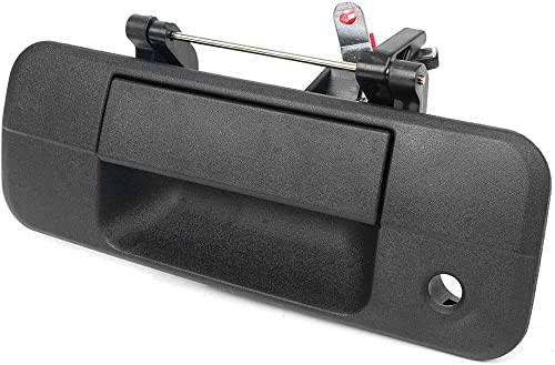 high quality Mallofusa Rear Tailgate Door Handle Replacement Compatible popular for Toyota online sale Tundra 2007 2008 2009 2010 2011 2012 2013 Without Rear Camera Textured Black outlet sale