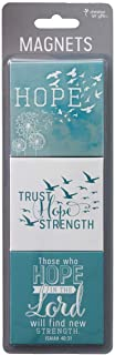 Christian Art Gifts Teal Refrigerator Magnets | Hope - Isaiah 40:31 Bible Verse | Soar Collection Inspirational Fridge Mag...