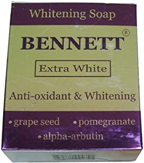 Bennett Extra White Whitening Soap Anti-oxidant Rich Grape Seed Extract, Pomegranate Extract and Alpha Arbutin 130 G
