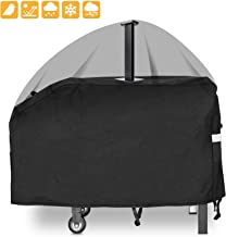 Grisun 28 inch Griddle Cover for Blackstone Flat Top Grill Griddle Station 2 Burner, 600D Heavy Duty Waterproof Anti-UV Canvas Flat Top BBQ Cover with Support Pole to Prevent Water Leaking