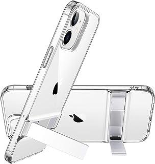 ESR iPhone 12 miniケース 5.4 inch 2020 新型 メタルキックスタンド 透明 カバー [縦置き&横置き対応スタンド][特許取得デザイン] Qi急速充電対応 柔軟性抜群TPUソフト背面 - クリア