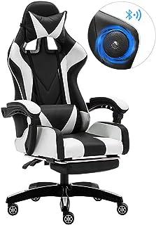 ゲーミングチェア オフィスチェア 多機能 パソコンチェア ゲーム用チェア ヘッドレスト 170°リクライニング 150kg耐荷重 腰痛対策 一年保証 オットマン付き