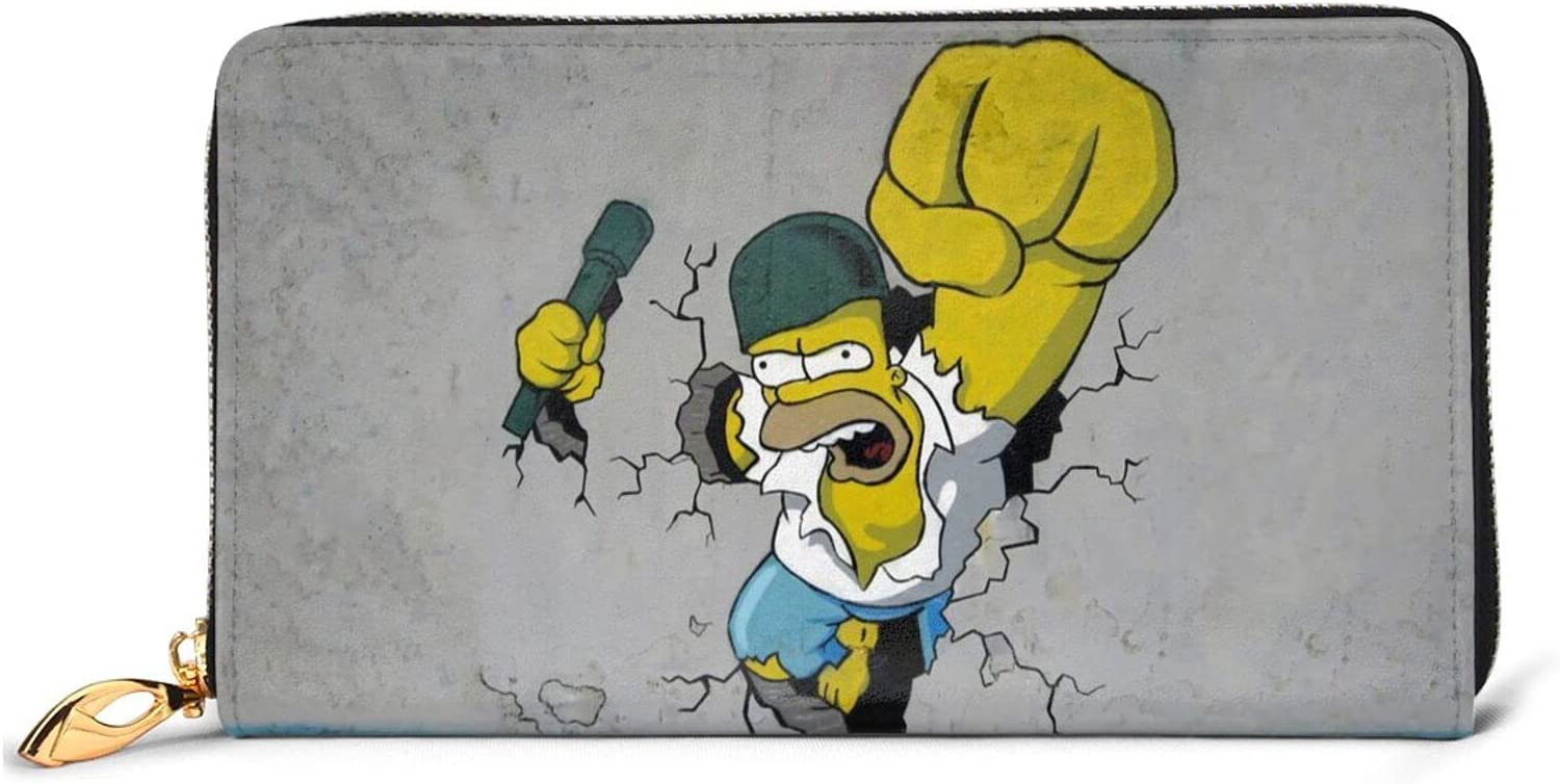 The Simpsons Wallet Leather Portable Max 71% OFF Card Wallets Credit Excellence Zipper