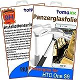 tomaxx Glas für HTC One S9 Panzerglas Panzerglasfolie Glasfolie 9H Schutzfolie Glas