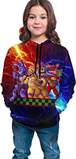 Kmehsv Teen Boys Girls 3D Hoodies - Sudadera con diseño de cinco noches de Freddy