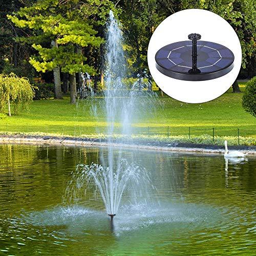 Kit de bomba solar de pie libre, 3 W, con 6 boquillas, bomba de fuente solar de baño de pájaros, 240 l/h, kit de bomba de agua solar de jardín para acuario, jardín de estanque de piscina