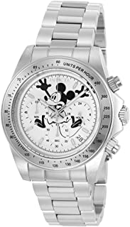 Invicta Men's Disney Limited Edition Japanese-Quartz Watch with Stainless-Steel Strap, Silver, 9 (Model: 22863)
