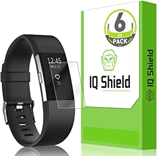 IQ Shield Screen Protector Compatible with Fitbit Charge 2 (6-Pack) Anti-Bubble Clear Film