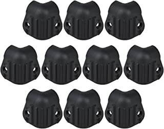 Kmise Black Hard Plastic Guitar Amp Amplifier Speaker Cabinet Corner Protectors M Pack of 10