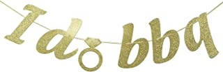 I Do BBQ Glitter Gold Banner, I Do Barbecue, Engagement Barbeque Party Decor, Barbecue Bridal Shower, Rehearsal Dinner Decorations (Gold)