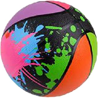 """Shop Zoombie 9.5"""" Splash Color Splatter Style Basketball and 1 Vortex Eraser- Youth Basketball for Indoor or Outdoor Use - Durable Rubber"""