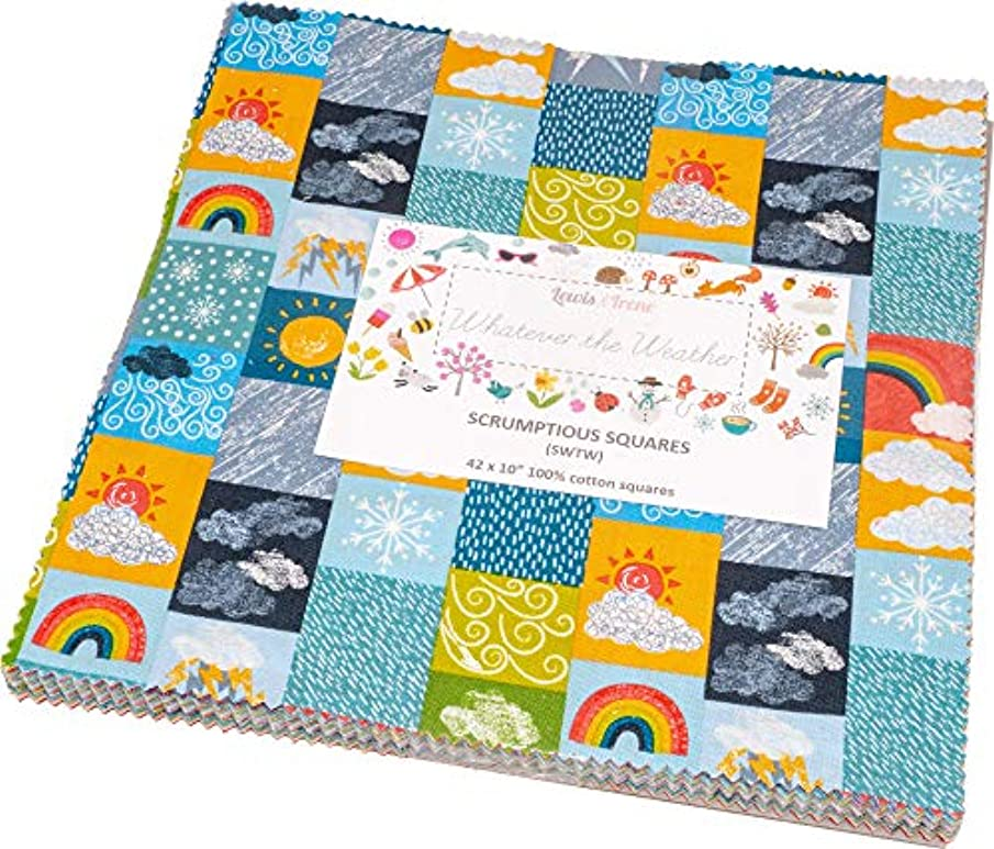 Whatever The Weather Scrumptious Squares 42 10-inch Squares Layer Cake Lewis & Irene
