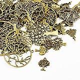 Paket 30 Gramm Antik Bronze Tibetanische ZufälligeMischung Charms (Baum) - (HA07080) - Charming Beads
