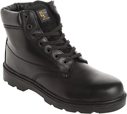 Grafters Unisex Steel Toe Midsole Padded Safety Boots Black : boots