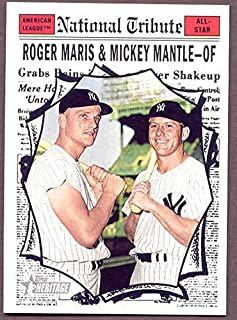 2011 Topps National Convention 1961 Retro Mickey Mantle Roger Maris Card Kit Young Cards