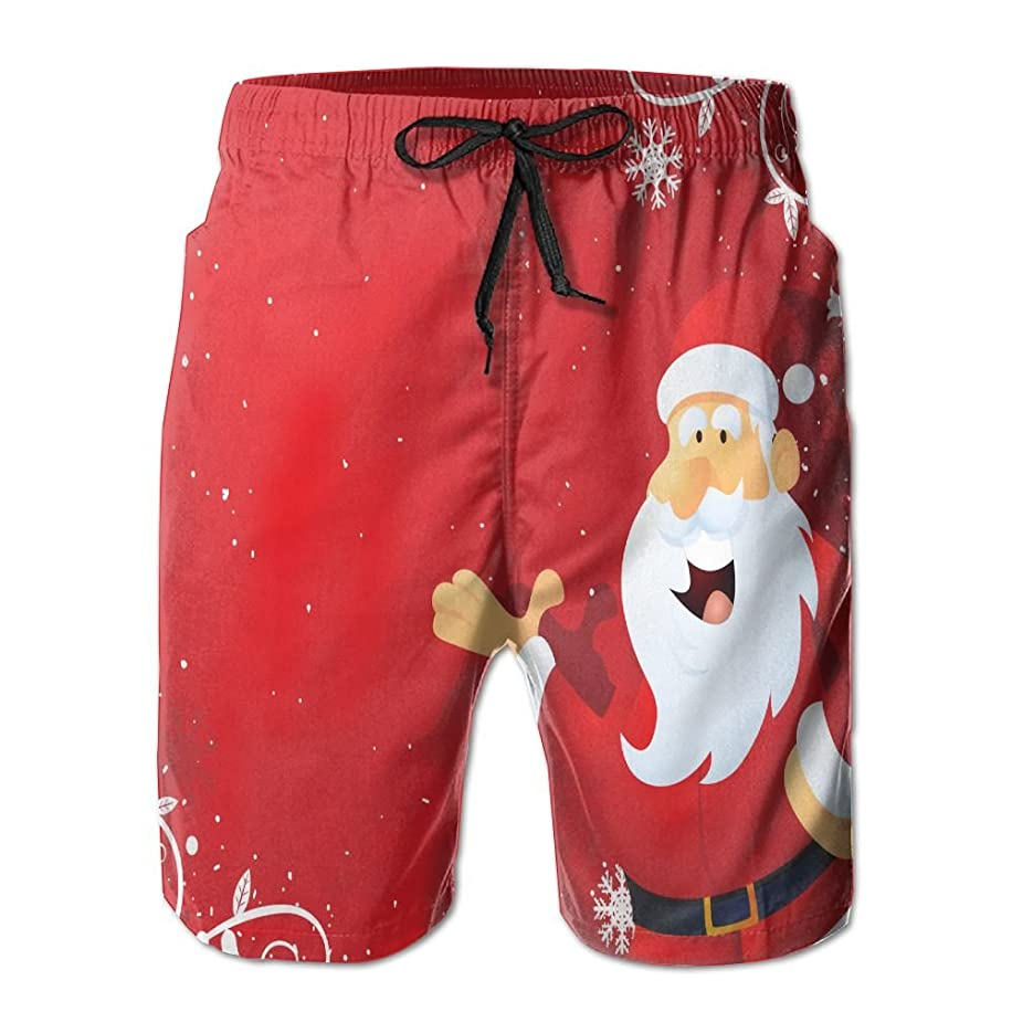 Men's Swim Trunks Santa Claus Merry Christmas Quickly-Dry Beach Shorts