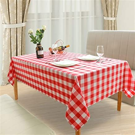 Tablecloth, Simple Plaid Tablecloth Anti-pollution Family Tablecloth Fabric Rectangular Cover Hotel Restaurant Tablecloth (Color : E, Size : 152 * 213CM) meyeye (Color : E, Size : 152 * 213CM)