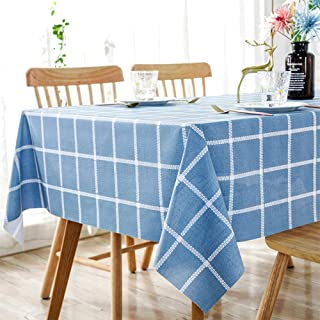 Waterproof PVC Table Cloth, Oil-Proof Spill-Proof Vinyl Rectangle Tablecloth, Wipeable Table Cover for Outdoor and Indoor ...