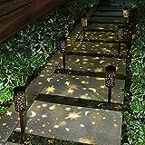 Esgarden 6 Pcs Solar Light Outdoor Garden Moon Star Patio Pathway Landscape Lights Yard Driveway...