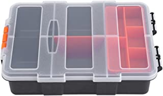 Plastic Heavy-Duty Tool Storage Box Two-Layer Components Storage Case Organizer Small Parts Tool Box