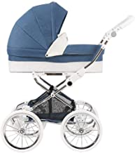 Hot Mom Pushchair - 2 in 1 Strollers for Toddlers - Baby Prams - 16-Inch Classic Retro Shock Wheel - Two Way/Compact/Lightweight Travel Baby Buggies,Blue A