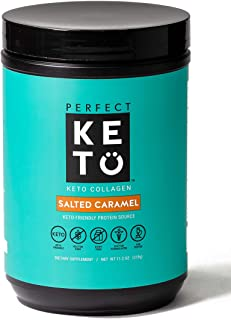 Perfect Keto Collagen Peptides Protein Powder with MCT Oil – Grassfed, GF, Multi..