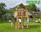 Spielturm Jungle Cabin - Set mit Feuerwehrstange Sandkasten Kletterturm - Jungle Gym (inkl....