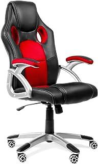 Kewayes Roja Sedia Gaming, Poltrona da Ufficio Ergonomica, Sedile Racing Girevole, con Braccioli e Altezza Regolabile, Tel...