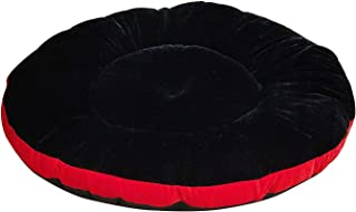 Mellifluous XL Size Dog and Cat Pet Bed Cushion, Black-Red