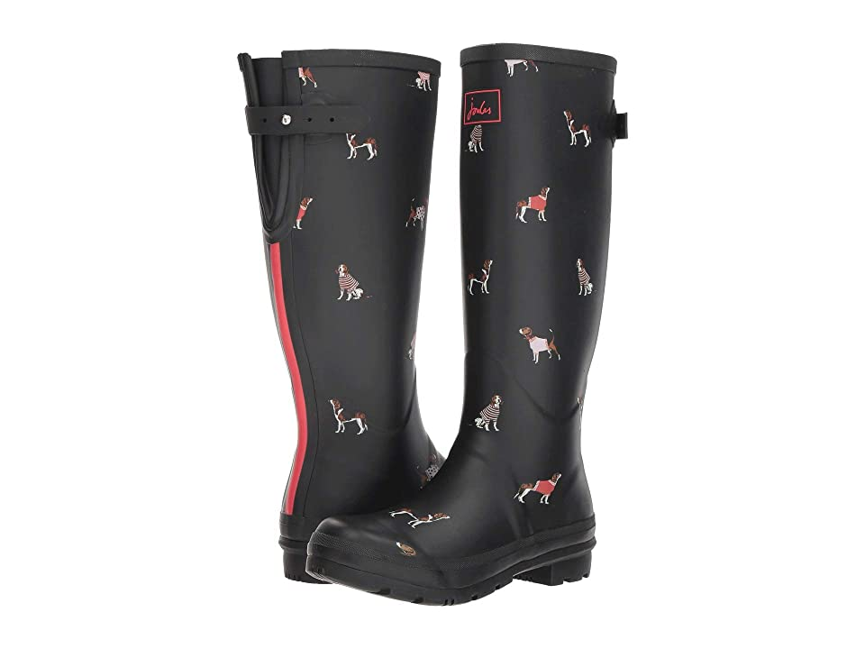 Joules Welly Print (Black Jumper Dogs) Women