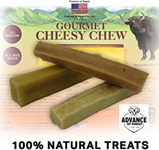 Advance Pet Products Long Lasting 100% Natural and Organic Gourmet Himalayan Cheesy Chews Dog Treats Healthy Dog Chew