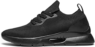 Men's Fashion Sneakers Breathable Lightweight Gym Mens Walking Shoes White Black Grey