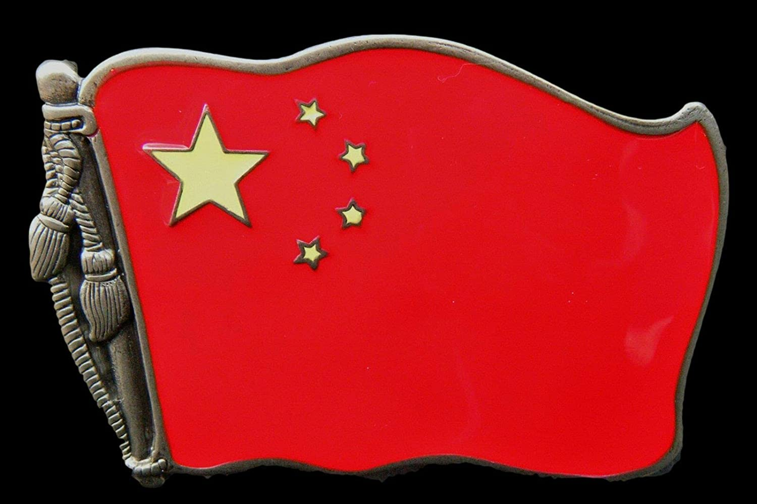 China Chinese Socialist Red Flag Max 50% OFF Belt Star Memphis Mall Buckle