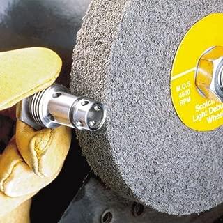 3M Scotch-Brite XL-WL Convolute Silicon Carbide Hard Deburring Wheel 6 in Dia 1 in Center Hole Thickness 2 in 6000 Max RPM PRICE is per WHEEL Fine Grade 05133 Arbor Attachment