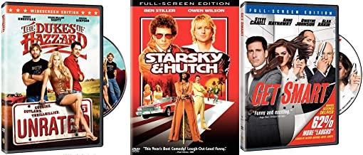 Television Greats Come To The Big Screen: Get Smart + Starsky & Hutch + The Dukes of Hazzard (UNRATED) 3-DVD Pack Bundle